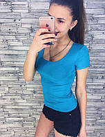 Женская стильная трикотажная футболка (7 цветов), фото 1