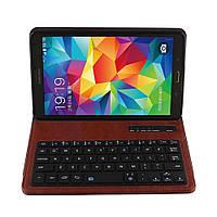 Чехол клавиатура Bluetooth для планшета Samsung Galaxy Tab S 8.4 T700 T705 коричневый