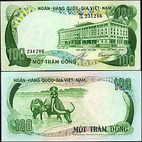 Вьетнам Южный /Vietnam South 100 Dong 1972 P31 UNC