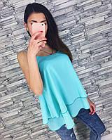 Женская модная шифоновая майка (3 цвета), фото 1