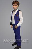 Костюм для мальчика жилетка брюки цвета электрик