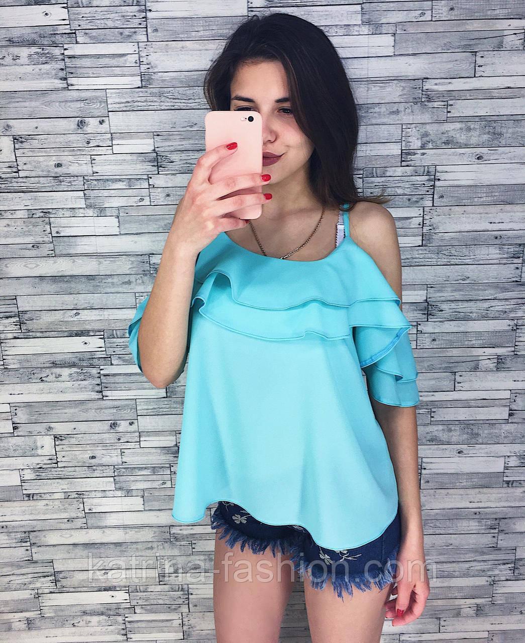 Женская модная блуза из шифона (3 цвета)