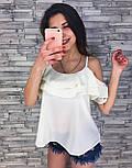Женская модная блуза из шифона (3 цвета), фото 5