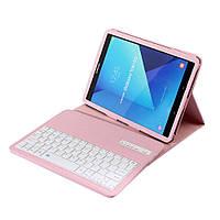 Чехол клавиатура Bluetooth для планшета Samsung Galaxy Tab S3 9.7 T820 розовый