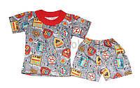Детский летний комплект на мальчика. Футболка и шортики.
