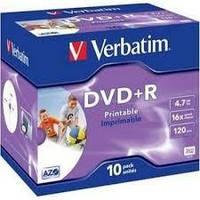 Диск DVD+R, 4.7Gb,16х, Printable, Case (10)