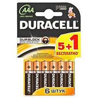 Елемент живлення (батарейка) DURACELL LR3 (АAA), 6штупак