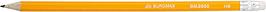 Олівець графітовий HB, жовтий, з гумкою,  JOBMAX