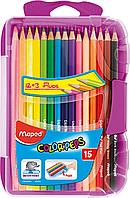 Олівці кольорові COLOR PEPS Smart Box, 15 кол., пластик. футляр з підвісом, асорті
