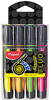 Текст-маркер FLUO PEPS Max, набір 4 шт., бістер, асорті