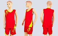 Форма баскетбольная подростковая Pace LD-8081T-3 (PL, р-р S,M,L,115,120, рост 125-165, красный-желтый)