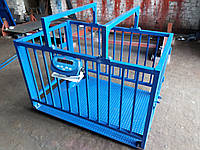 Весы для взвешивания животных VTP-G-1015-3000  1000х1500мм с оградкой 900 мм на 3000 кг.