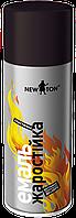 Фарба емаль аерозольна 400мл Чорна жаростійка Newton 207-461 | краска эмаль аэрозольная красная жаростойкая