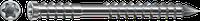Шуруп A4 для терас, T-STAR plus,нержавіюча сталь, оцинкований, срібний