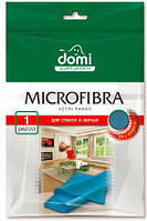 Domi Микрофибра для стекол и зеркал 1шт