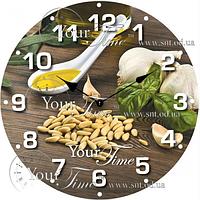 Часы круглые настенные стекло Специи 28 см SNT 01-340