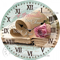 Часы круглые настенные стекло Специи 28 см SNT 01-352