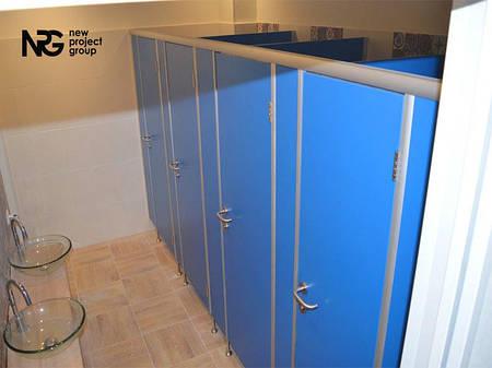 Туалетные перегородки СТАНДАРТ (25 мм), фурнитура нерж. сталь