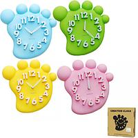 Часы настенные Детские Ножки кварц.пластик 31*4,5*31 см SNT 05-024