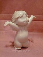 """JP-01/ 2 Фарфоровая статуэтка фигурка """"Ангелочек-февраль"""" итальянской компании Pavone"""