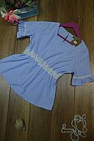 Женская блуза  с коротким рукавом в полоску Италия, фото 1