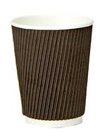 Стакан бумажный двухслойный коричневый, 400мл., 25 шт./уп.