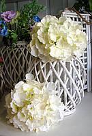 Искусственные цветы из ткани соцветие Гортензии (Очень крупная).