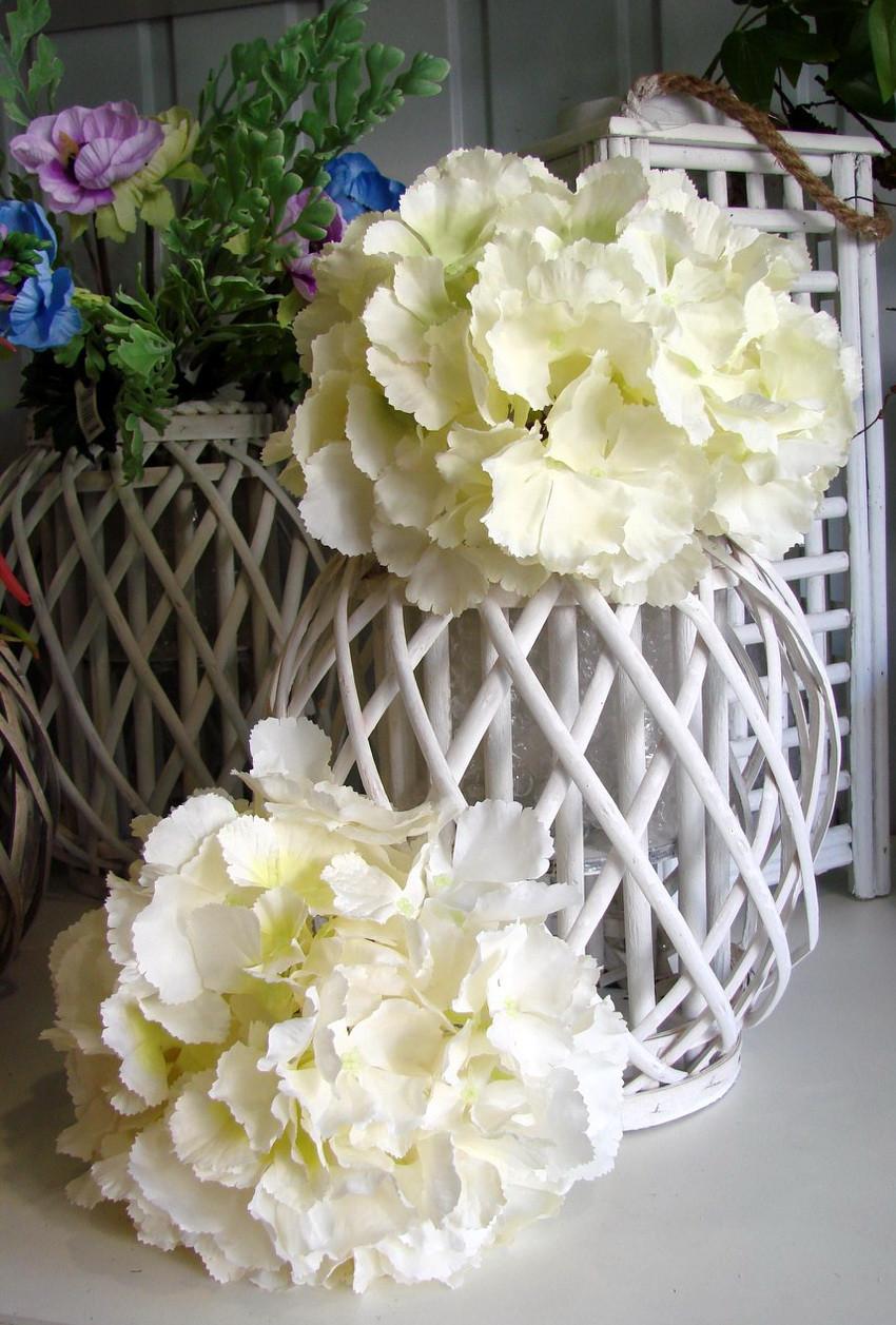 Искусственные цветы из ткани соцветие Гортензии (Очень крупная). - April House производство и продажа товаров для дома в Одессе