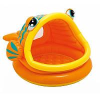 Детский надувной бассейн «Рыбка» с навесом Intex 57109