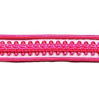 Резинка для бретелей ажурная, арт. 030 12 мм розовый неон