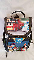 Рюкзак каркасный школьный Poli тачка размер 35x25x15 (Ваня 0630283456)
