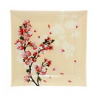 Тарелка квадрат 20 см Цветущая вишня SNT 306-6