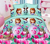 Детское постельное бельё 3D Принцесса София 150*220  (11018) Ранфорс