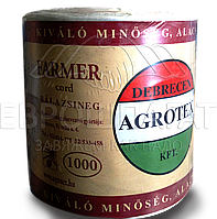 Шнур Agrotex Farmer 1000 полипропиленовый (белый)