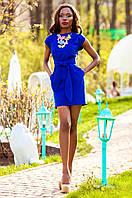 Льняное женское синее платье Кора Jadone Fashion 42-48 размеры