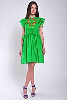 Платье женское длина мини зеленое