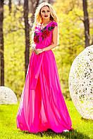 Длинное женское  платье Фико фуксия Jadone Fashion 42-50 размеры