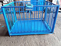 Весы для взвешивания животных VTP-G-1520-300  1500х2000мм с оградкой 1200 мм на 300 кг.