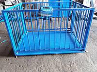 Весы для взвешивания животных VTP-G-1520-3000  1500х2000мм с оградкой 1200 мм на 3000 кг.