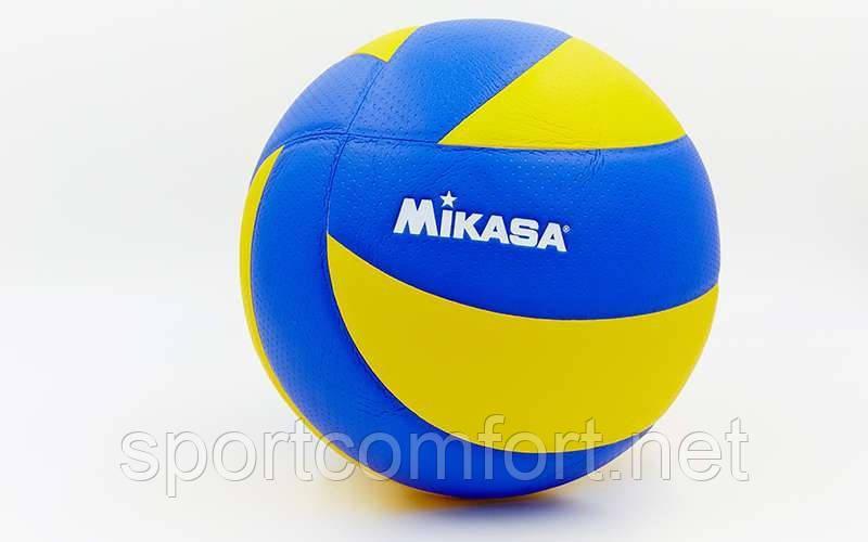 Волейбольний м'яч Mikasa PU mva 200 (клеєний 3-шаровий поліуретан)