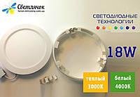 Светодиодный светильник накладной 18w LEDLIGHT 2в1 (аналог AL504) 3000К/4000К