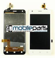 Оригинальный Дисплей (Модуль) + Сенсор (Тачскрин)  для  Fly FS455 (Белый)