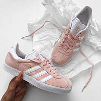 Женские Кроссовки Adidas Gazelle vapour pink/white/gold metallic