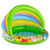 Детский надувной бассейн Intex 57424 c навесом «Винни Пух»