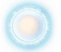 Светильник встраиваемый Bubble 6w 4000k белый с подсветкой 3w 6500k