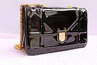 Сумка Dior Diorama Bag клатч диор Лак , черный