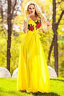Длинное женское желтое платье Фико Jadone Fashion 42-50 размеры