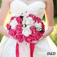 Букет невесты розово-белый