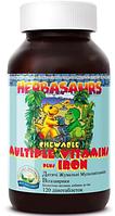 """Детские витамины,США """"Витазаврики"""" с железом и бурыми водорослями"""