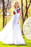 Длинное женское белое платье Фико Jadone Fashion 42-50 размеры